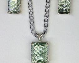 5021 Prasiolite Pendant & Earrings Set 1