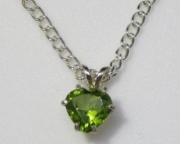 5026 Peridot AZ Heart Sterling Pendant