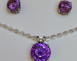 5058a Amethyst Round in White Gold