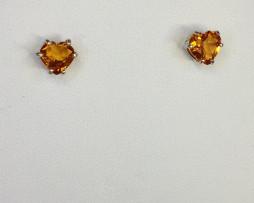 4037 Citrine Heart Sterling Earrings 1