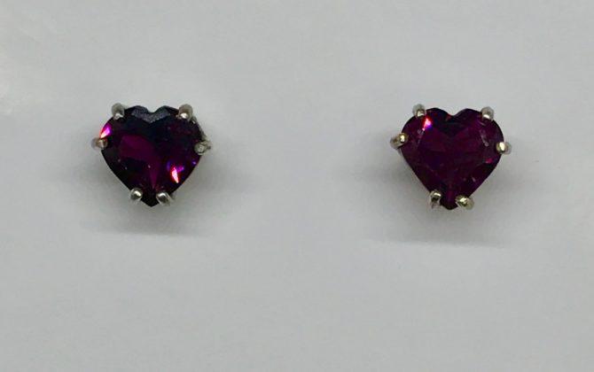 Rhodolite Garnet Sterling Silver Earrings