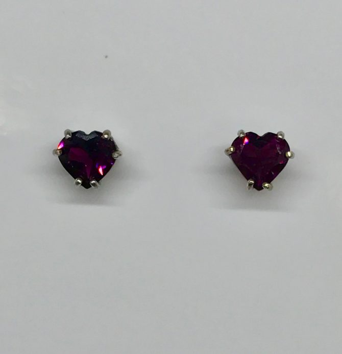 Rhodolite Garnet Sterling Silver Earrings