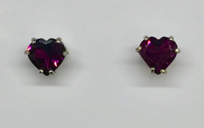 Rhodolite Garnet in Sterling Silver Earrings