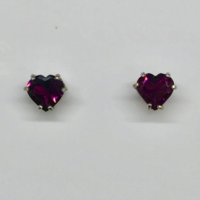 Rhodolite Garnet in Sterling Silver Earrings