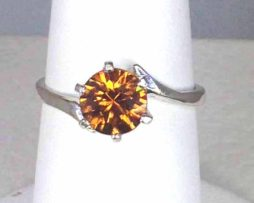 6050a Orange Zircon Sterling Ring