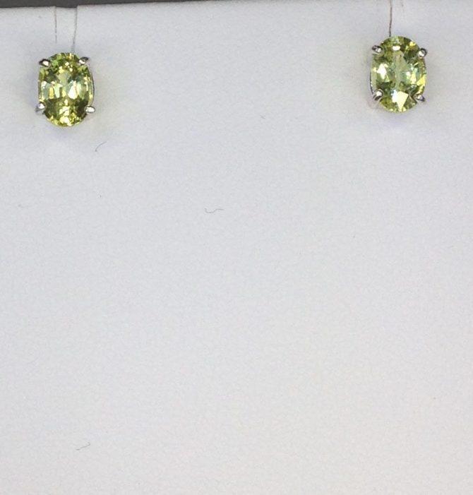 Chrysoberyl, Sterling Silver, Earrings