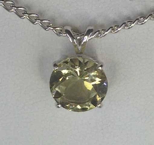 Item 5224 lemon quartz set in a sterling silver pendant robert item 5224 lemon quartz mozeypictures Images