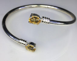 Citrine Twins in a Sterling Silver Bracelet