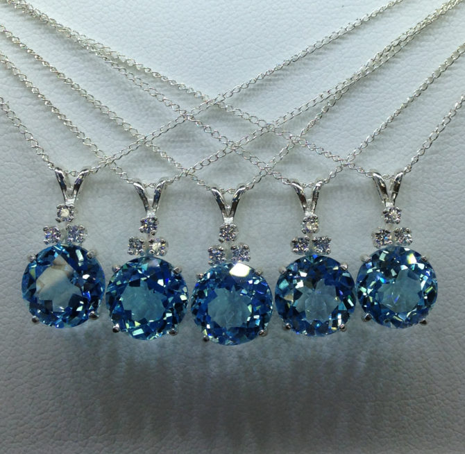 Sky Blue Topaz Bridesmaid gift