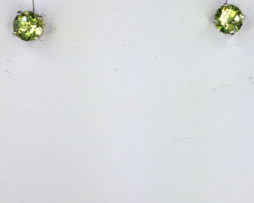 4165a Peridot Colorado Sterling Silver Earrings