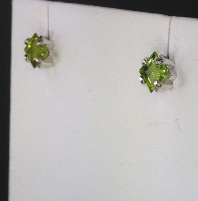 Peridot Arizona Sterling Silver Earrings