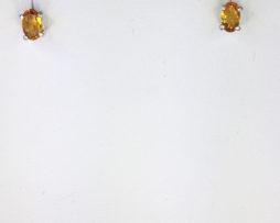Citrine 5x3 Oval Sterling Earrings