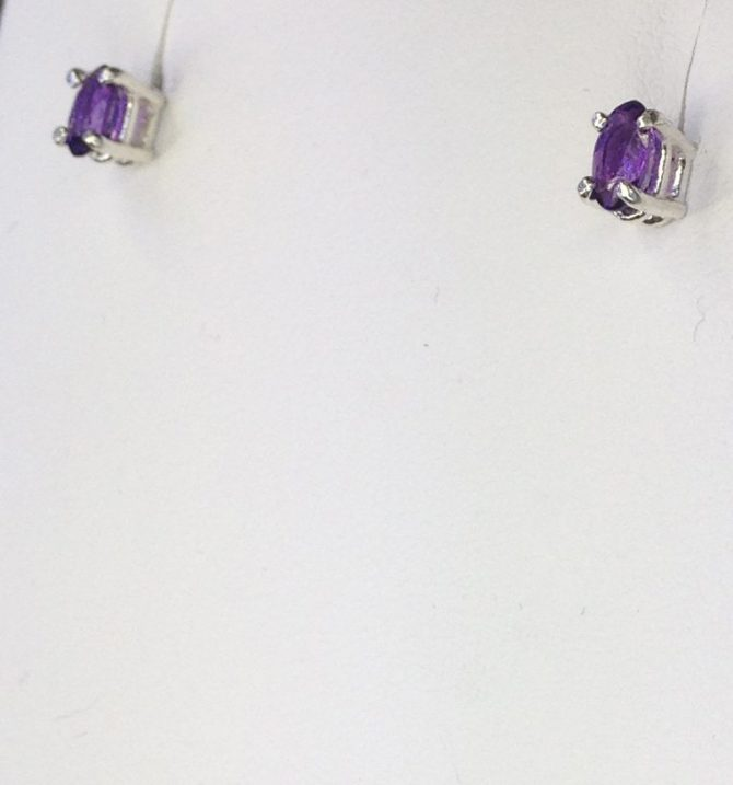 Amethyst Colorado 5x3 Oval Sterling Earring