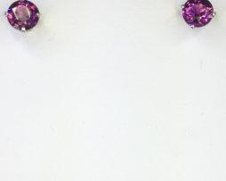 Rhodolite Garnets in Sterling Silver Earrings