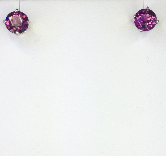 Rhodolite Garnets in Sterling Silver Earrings