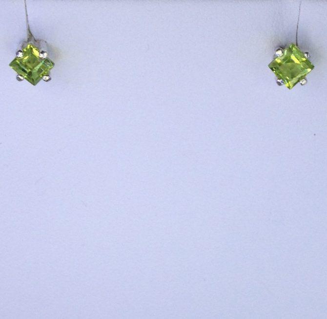 Colorado Peridot set in Sterling Silver Earrings