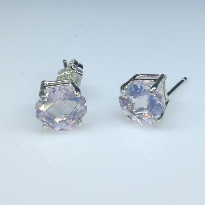 Rose Quartz from Colorado in Sterling Silver Earrings