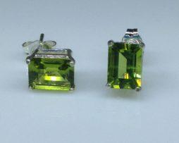 Peridot from Arizona set in Sterling Silver Post Earrings
