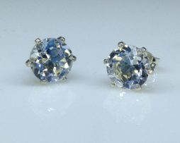 Colorado Topaz set in Sterling Silver Post Earrings