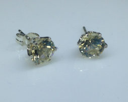 Yellow Labradorite set in Sterling Silver Post Earrings