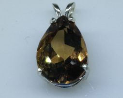 Imperial Topaz Pear set in a Sterling Silver Pendant