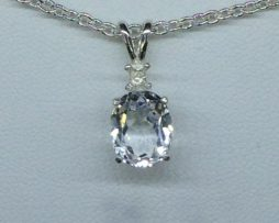 Colorado White Topaz set in a Sterling Silver Pendant