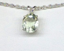 5267a Brazilian Prasiolite Sterling Silver Pendant