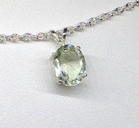 5267b Brazilian Prasiolite Sterling Silver Pendant