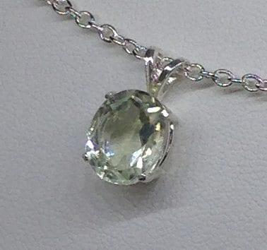 Brazilian Prasiolite Sterling Silver Pendant