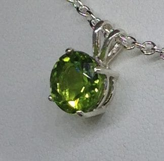 Arizona Peridot in a Sterling Silver Pendant