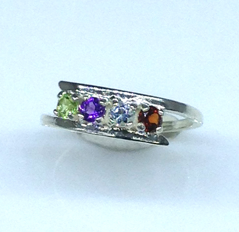 6090a Mothers Ring 7 Sterling Ring