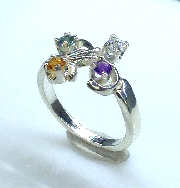6092aaa Mothers Ring 7 Sterling Ring