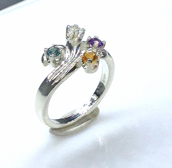 6092bb Mothers Ring 7 Sterling Ring
