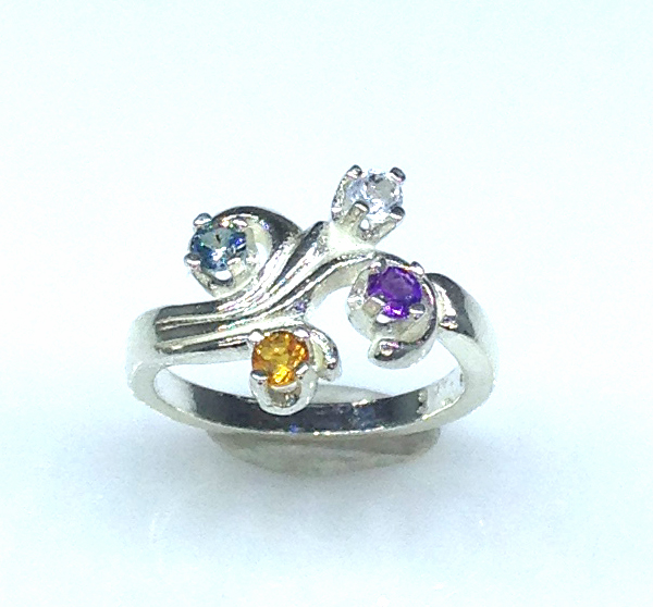 6092f Mothers Ring 7 Sterling Ring
