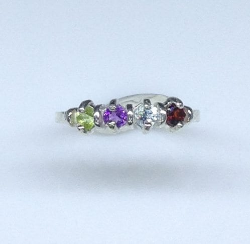 Mother's Deco Ring in Sterling Silver