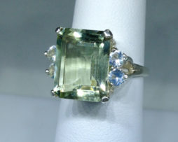 Brazilian Prasiolite set in a Sterling Silver Ring