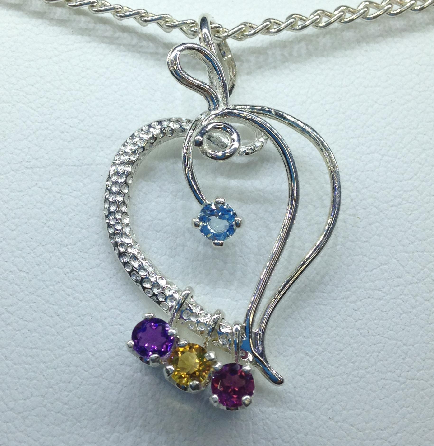 Item 5229 mothers birthstone pendant robert michael gems mothers birthstone pendant aloadofball Images