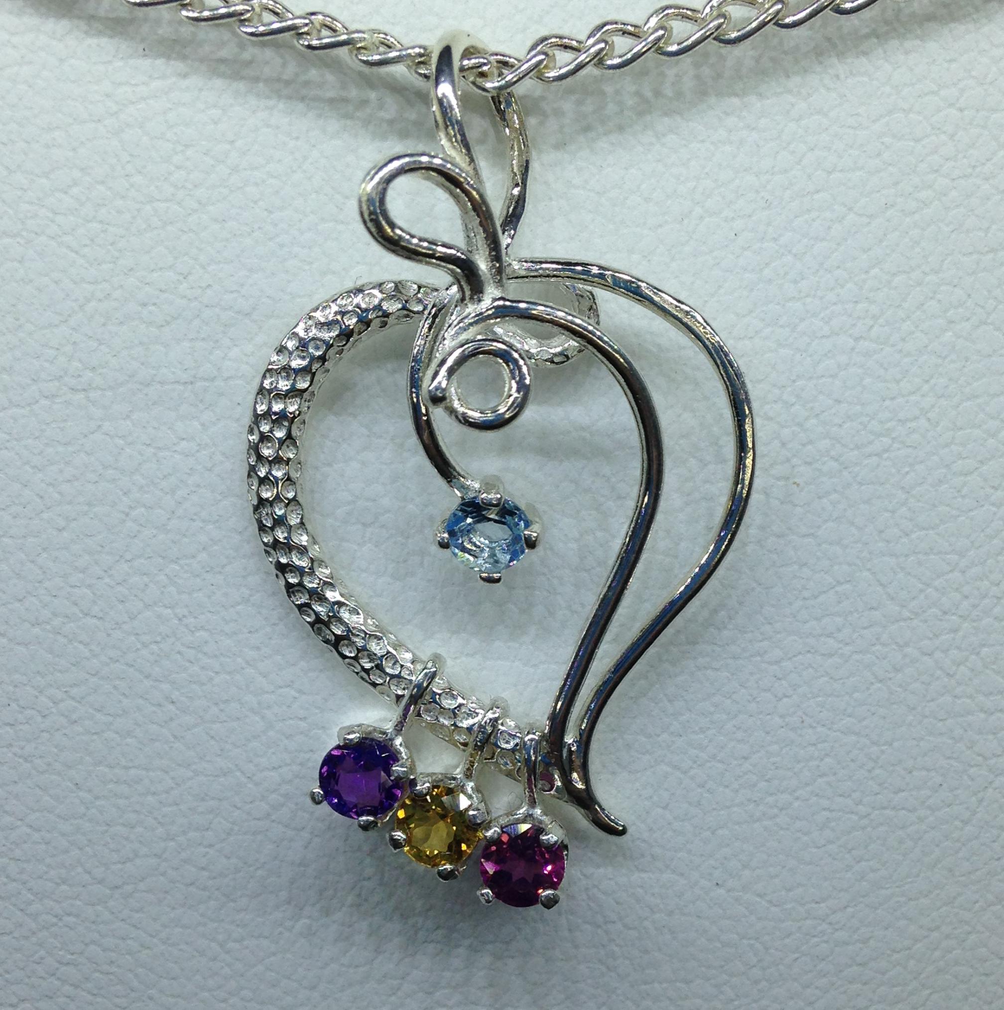 Item 5229 mothers birthstone pendant robert michael gems item 5229 mothers birthstone pendant aloadofball Image collections