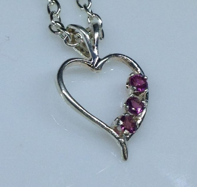 Pink Rubellite Tourmaline Sterling Silver Pendant