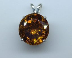 Sphalerite set in a Sterling Silver Pendant