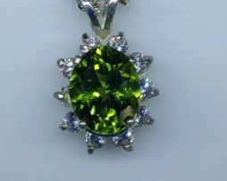 Arizona Peridot with White Topaz Accents