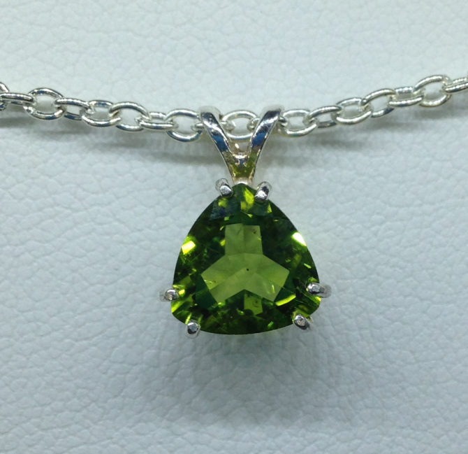 Arizona Peridot set in a Sterling Silver Pendant