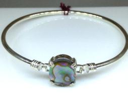 Paua Shell Oval Sterling Bracelet