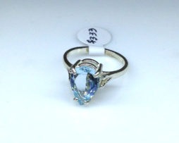 Aquamarine CO Sterling Ring