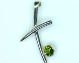 5383 Chrome Diopside in a custom sterling Pendant