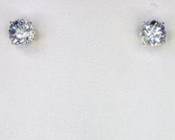 4232a Aqua CO Round Sterling Earrings