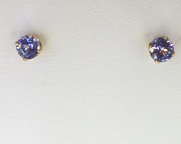 4098a Tanzanite gems in 18kt Yellow Gold
