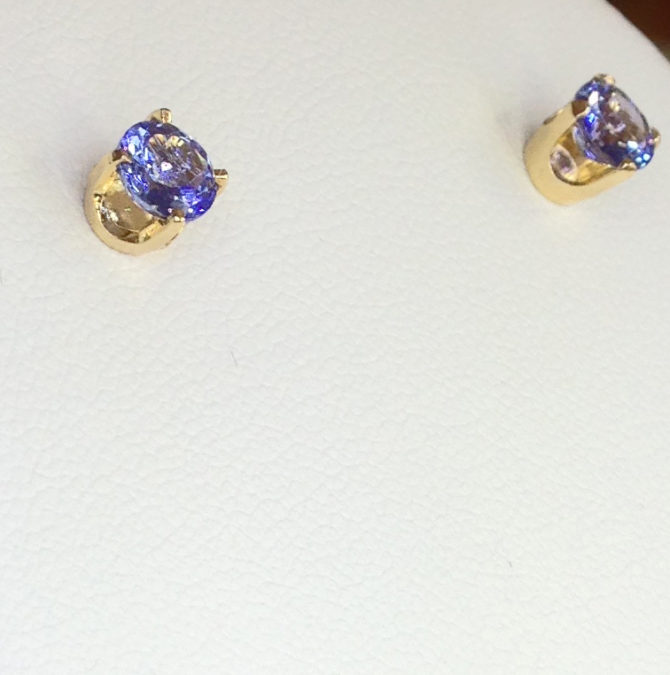 4098c Tanzanite gems in 18kt Yellow Gold