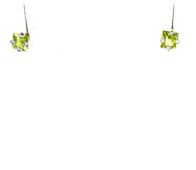 4164a Peridot Colorado Sterling Silver Earrings