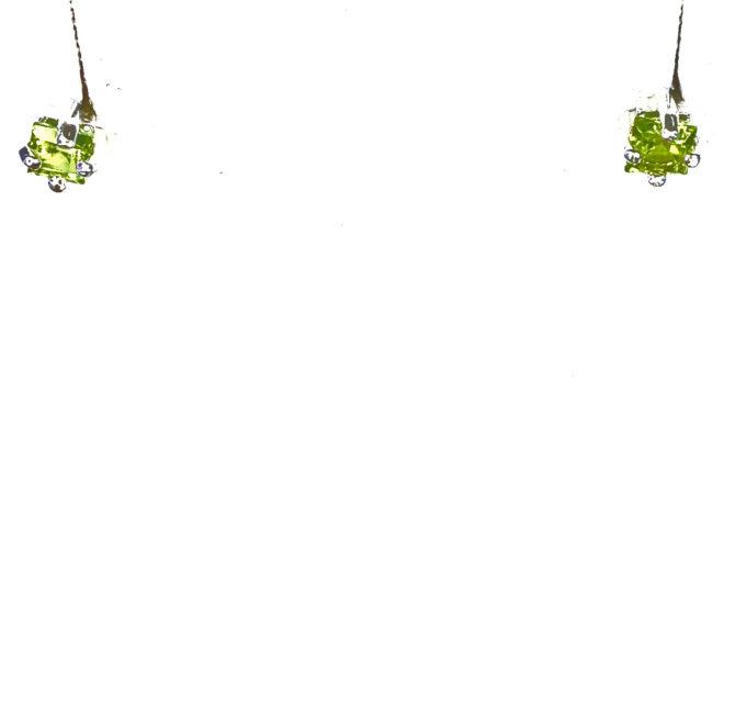 4164c Peridot Colorado Sterling Silver Earrings